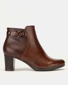 Pierre Cardin Block Heel Ankle Boots Multi