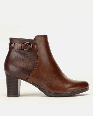 9a300979b30a4a Pierre Cardin Block Heel Ankle Boots Multi