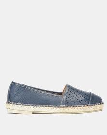 Tsonga Leather   Emfuleni Slip On Shoes Denim Vintage