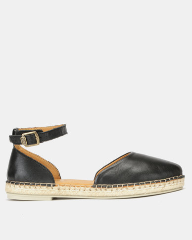 Tsonga Leather Badinga Slip On Shoes Black Vintage