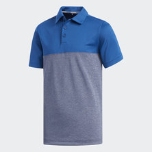 HEATHERED COLOR BLOCKED POLO