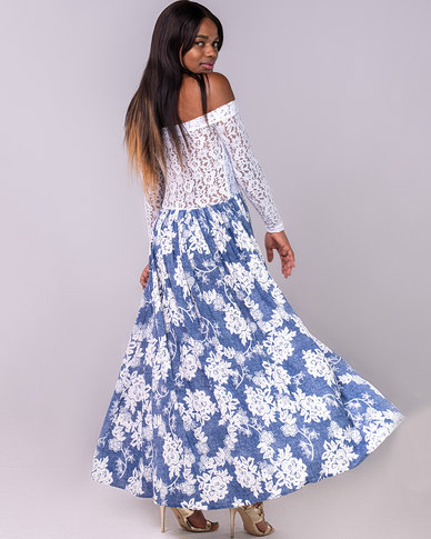 Blue mango Lacy Maxi Blue