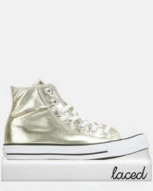 Converse Chuck Taylor All Star Hi Top Sneakers Light Gold
