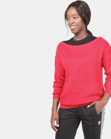 AX Paris Cosy Jumper Red