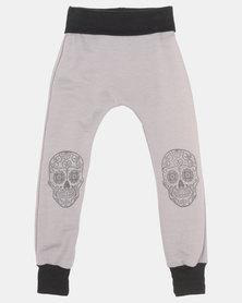 Phoenix & the Llama Sugar Skull Pirate Pants Charcoal