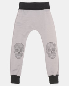 Phoenix & the Llama Sugar Skull Pirate Pants Charcoal