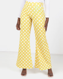 Modest Revolution Couture Wide Leg Pants Yellow