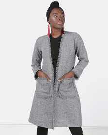 Modest Revolution Couture 3/4 Jacket With Frill Details Black/Grey