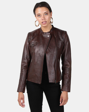 fa22681b7a9ce5 House of LB Bonnie Leather Jacket Chocolate. Quick View