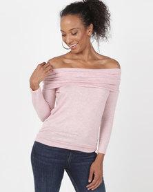 N'Joy Cowlneck Top Pink