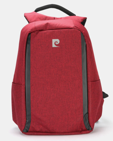 Pierre Cardin Anti Theft Backpack Red