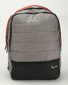 Pierre Cardin Nova Computer Backpack Grey/Orange
