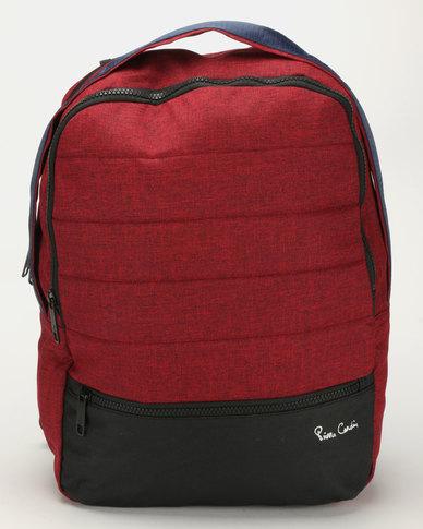 Pierre Cardin Nova Computer Backpack Red/Blue
