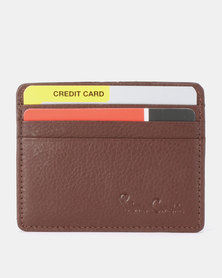 Pierre Cardin Dylan Card Holder Brown
