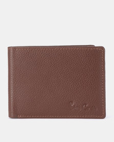 Pierre Cardin Dennis Billfold With Coin Pouch Brown