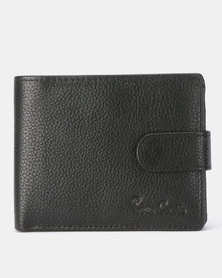 Pierre Cardin Byron Tab Billfold 3 (2 Card Sheet+Coin) Wallet Black