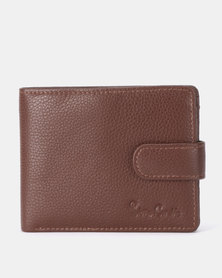 Pierre Cardin Byron Tab Billfold 3 (2 Card Sheet+Coin) Brown