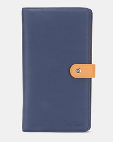 Pierre Cardin Travel Wallet Blue