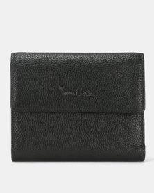 Pierre Cardin Celine Ladies Leather Trifold Wallet Black