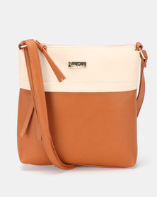 Pierre Cardin Serena Crossbody Bag Tan/Nude