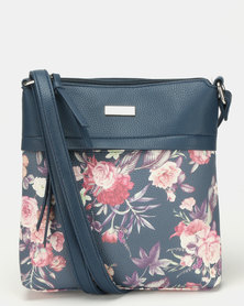 Pierre Cardin Serena Crossbody Bag Floral/Navy