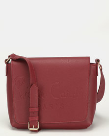 Pierre Cardin Blair Crossbody Bag Burgundy