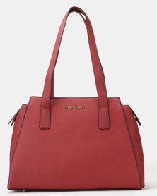 Pierre Cardin Hanna Top Handle Bag Burgundy