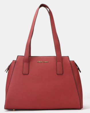 01ad6d30f840 Pierre Cardin Hanna Top Handle Bag Burgundy