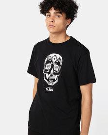 Phoenix & the Llama Sugar Skull T Shirt Regular Fit Black