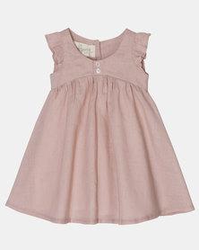 Razberry Kids pink linen sun dress