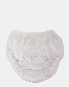 Razberry Kids white embroidered bloomers