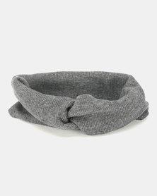 Black Lemon Knotted Head Band Grey Melange