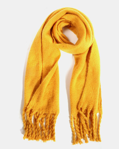 Black Lemon Cosy Large Scarf Mustard