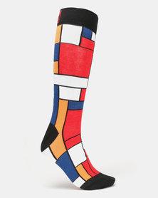 Sexy Socks De Stijl Bamboo Socks Multi