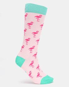 Sexy Socks Flamingos Bamboo Socks Multi