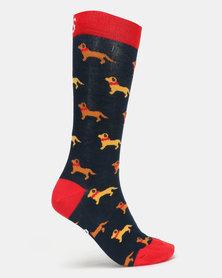 Sexy Socks Hot Dogs Bamboo Socks Multi
