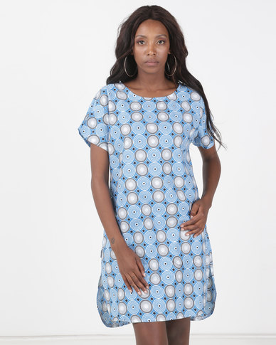 Kieke Shift Dress Blue Multi