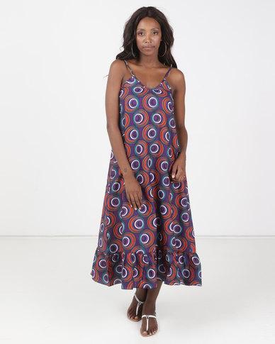 Kieke Maxi Dress Purple Multi