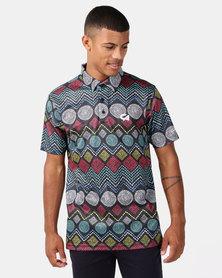 CUSTOM APPAREL Ethnic Golf Shirt Multi