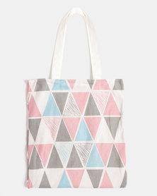 You & I Triangle Tote Bag Multi