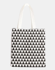 You & I Small Triangle Tote Bag Monochrome Multi