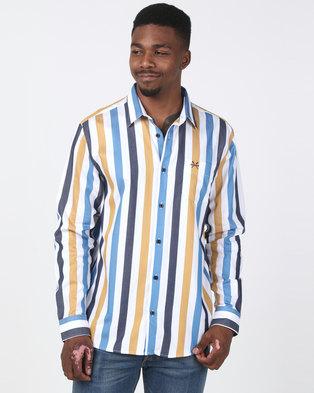 5a618adc443 JCrew Bold Stripe Shirt Taupe   Blue