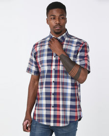 JCrew Multi Check Shirt Blue & Red