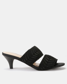 Queenspark Cornelli Double Strap Sandals Black