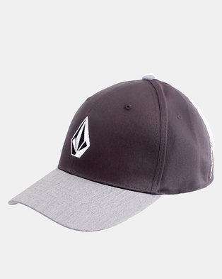 fbc065155a8 Volcom Stone Stretch fit Cap Charcoal