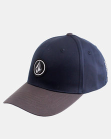 Volcom Quarter Stretch Fit Cap Navy/Charcoal
