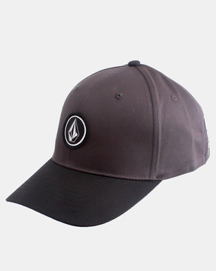 bd46b058176 Volcom Quarter Stretch Fit Cap Charcoal Black