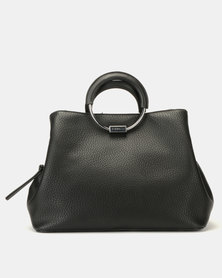 Fiorelli Stella Metal Circle Handle Grab Bag Black