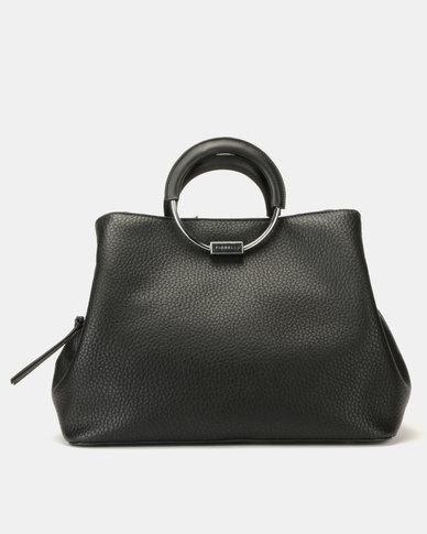 Fiorelli Stella Metal Circle Handle Grab Bag Black