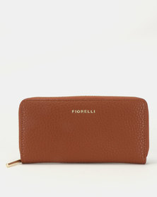 Fiorelli City Large Zip Around Purse Chestnut Cas